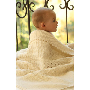 Princess Chantilly by DROPS Design - Baby Teppe Strikkeoppskrift 65x80 cm
