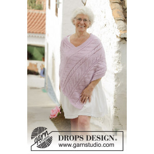 Sweet Nancy by DROPS Design - Poncho Strikkeoppskrift str. S - XXXL