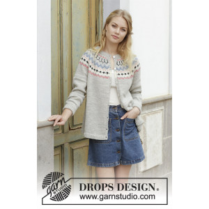 Mina Cardigan by DROPS Design - Jakke Strikkeoppskrift str. S - XXXL