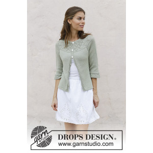 Summer Evening Cardigan by DROPS Design - Jakke Strikkeoppskrift str. S - XXXL