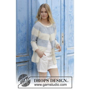 Sailor's Luck Cardigan by DROPS Design - Jakke Strikkeoppskrift str. S - XXXL