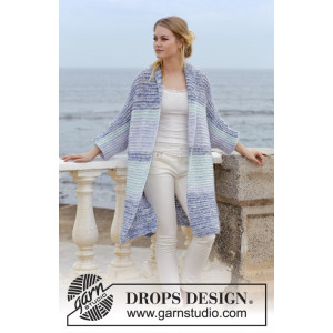 La Mare by DROPS Design - Jakke Strikkeoppskrift str. S - XXXL