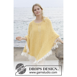 Soldansav DROPS Design - Poncho Strikkeoppskrift str. S - XXXL