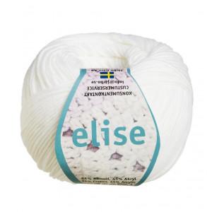 Järbo Elise Garn Unicolor 69201 Hvit