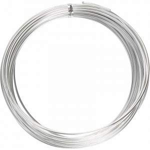 Bonsaitråd / Alu wire Sølv 2mm 10m