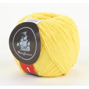 Mayflower Cotton 1 Garn Unicolor 135 Gul