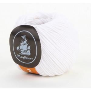 Mayflower Cotton 2 Garn Unicolor 222 Hvit