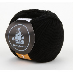 Mayflower Cotton 2 Garn Unicolor 243 Sort