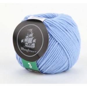 Mayflower Cotton 3 Garn Unicolor 323 Lys Blå