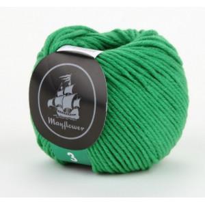 Mayflower Cotton 3 Garn Unicolor 332 Grønn