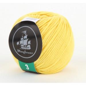 Mayflower Cotton 3 Garn Unicolor 335 Gul
