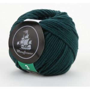 Mayflower Cotton 3 Garn Unicolor 339 Flaskegrønn
