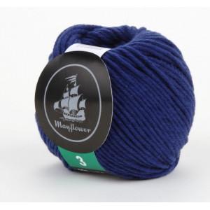 Mayflower Cotton 3 Garn Unicolor 340 Blå