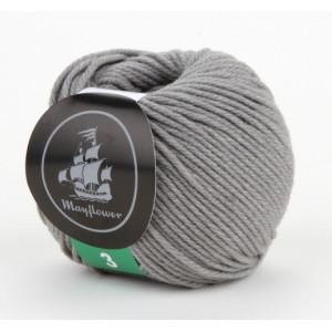 Mayflower Cotton 3 Garn Unicolor 341 Grå