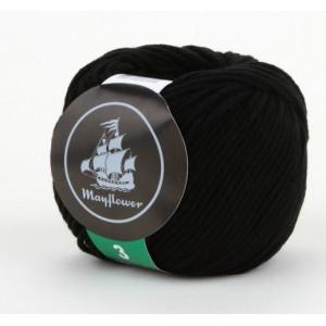 Mayflower Cotton 3 Garn Unicolor 343 Sort / Svart