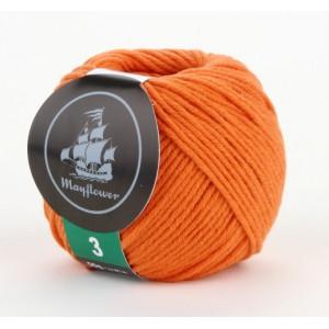 Mayflower Cotton 3 Garn Unicolor 346 Oransje