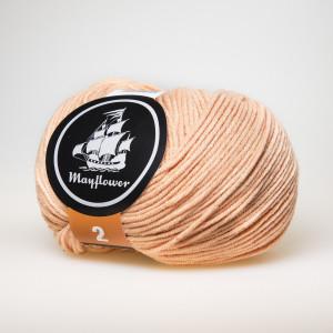 Mayflower Cotton 2 Garn Unicolor 251 Fersken