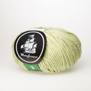 Mayflower Cotton 3 Garn Unicolor 348 Pistasj