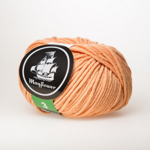 Mayflower Cotton 3 Garn Unicolor 351 Fersken