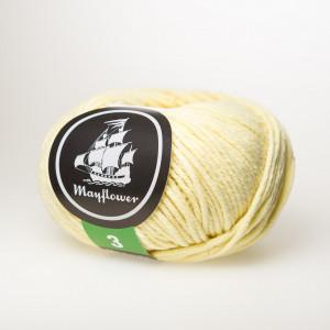 Mayflower Cotton 3 Garn Unicolor 352 Lys Gul