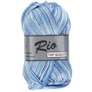 Lammy Rio Garn Print 623 Hvit/Blå 50 gram
