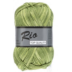 Lammy Rio Garn Print 627 Gul/Grønn 50 gram