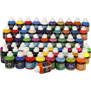 Bilde av A-color Akrylmaling, 57x500 Ml, Ass. Farger
