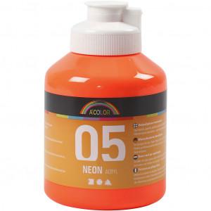 Bilde av A-color Akrylmaling, 500 Ml, Neon Orange