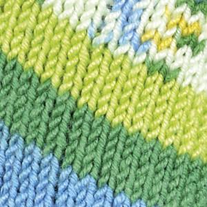 Järbo Soft Raggi Garn Print 31207 Lime/Turkis