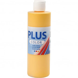 Plus Color hobbymaling, 250 ml, solgul