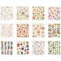 Stickers Bok, ark 15x16,5 cm, 12 ark
