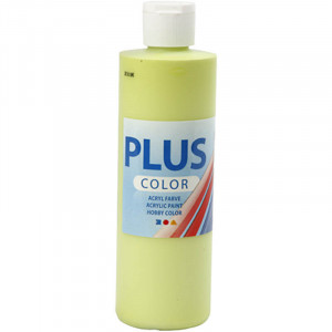 Plus Color hobbymaling, 250 ml, limegrønn