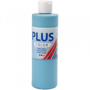 Plus Color hobbymaling, 250 ml, turkis