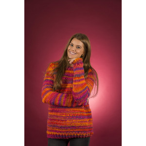 Mayflower Easy Knit Damegenser med rund hals - Genser Strikkeoppskrift str. S - XXXL