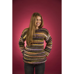 Mayflower Easy Knit Løs Damegenser - Genser Strikkeoppskrift str. S - XXXL