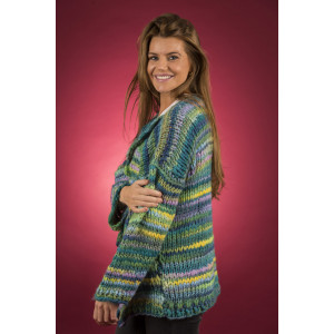Mayflower Easy Knit Vamset Cardigan - Jakke Strikkeoppskrift str. S - XXXXL