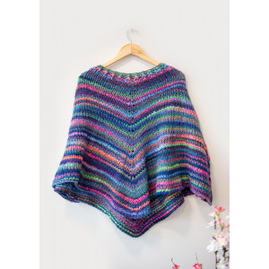 Mayflower Easy Knit Poncho - Poncho Strikkeoppskrift str. One Size