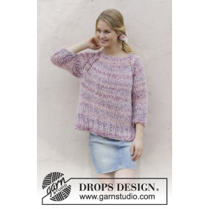 French Lavenderby DROPS Design - Stola Hækleopskrift str 36x157 cm