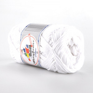 Mayflower Cotton 8/4 Junior Garn Unicolor 1402 Hvit
