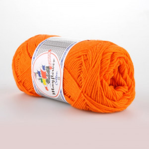 Mayflower Cotton 8/4 Junior Garn Unicolor 1406 Oransje