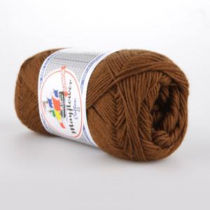 Mayflower Cotton 8/4 Junior Garn Unicolor 1432 Brun