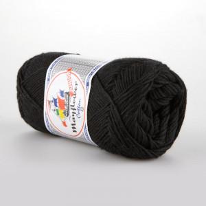 Mayflower Cotton 8/4 Junior Garn Unicolor 1443 Sort/Svart