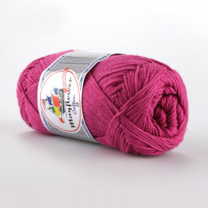 Mayflower Cotton 8/4 Junior Garn Unicolor 1470 Cerise