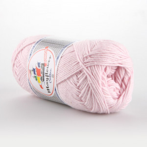 Mayflower Cotton 8/4 Junior Garn Unicolor 1488 Lys Rosa
