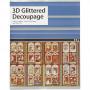 3D decoupagemerker, str. 24x19 cm, 16 ark