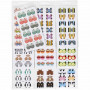 Index stickers, ark 7,5x15 cm, 10 pk.