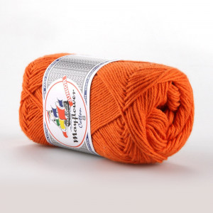 Mayflower Cotton 8/4 Junior Garn Unicolor 1494 Mørk Oransje