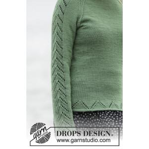 Green Forest by DROPS Design - Genser Strikkeoppskrift str. S - XXXL