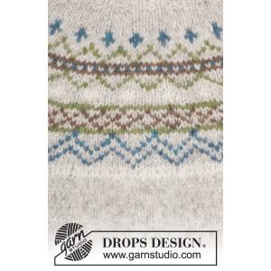 Sjona by DROPS Design - Genser med nordisk mønster Strikkeoppskrift str. S - XXXL