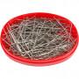 Knappenåler, L: 32 mm, tykkelse 0,5 mm, 25 g, sølv